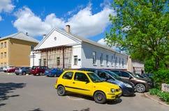 Studentenstadt der Vitebsk-Staats-Akademie des Veterinärmedizincafés, Kantine, Schlafsaal, Weißrussland Lizenzfreies Stockbild