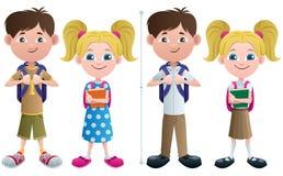 Studenter royaltyfri illustrationer
