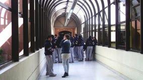 Studenter i den chilenska rådsmötet Royaltyfria Bilder