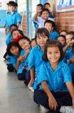 Studenter i Thailand. Arkivfoto