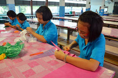 Studenter i Thailand. Arkivfoton