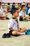 Studenter mediterar Royaltyfri Bild