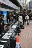 Studenter som sjunger händelsen för att memorera Kina Tiananmen fyrkantprotester av 1989 Royaltyfria Foton