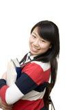 Studentessa allegra Fotografie Stock