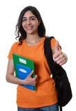 Studentessa araba che mostra pollice su Immagini Stock Libere da Diritti