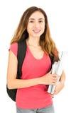 Studentessa che tiene i suoi libri Fotografie Stock Libere da Diritti