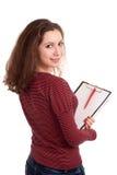 Studentessa con i appunti Fotografia Stock