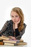 Studentessa con i libri Immagini Stock Libere da Diritti