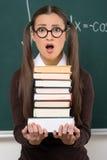 Studentessa con i libri. Immagine Stock Libera da Diritti