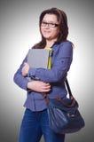 Studentessa con i libri Fotografia Stock Libera da Diritti