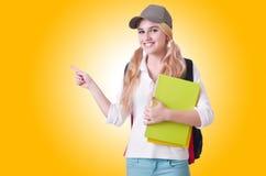 Studentessa con i libri Immagine Stock