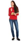 Studentessa con il taccuino Immagini Stock