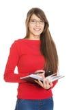 Studentessa con il taccuino Fotografia Stock Libera da Diritti