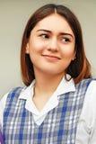 Studentessa confusa della preparazione Fotografie Stock