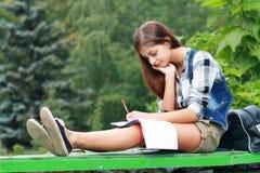 Studentessa di college Fotografia Stock Libera da Diritti