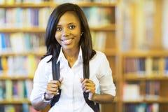 Studentessa di college africana Fotografie Stock