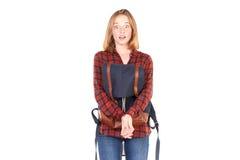 Studentessa di college dai capelli rossi Immagine Stock