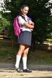 Studentessa diritta della preparazione Immagine Stock