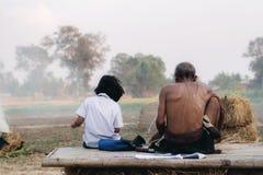 Studentessa e mamma della Tailandia Fotografia Stock Libera da Diritti