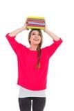 Studentessa felice con i libri Fotografie Stock Libere da Diritti