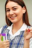 Studentessa And Happiness Fotografie Stock Libere da Diritti