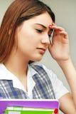Studentessa infelice Fotografia Stock Libera da Diritti