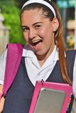 Studentessa Laughing immagini stock libere da diritti