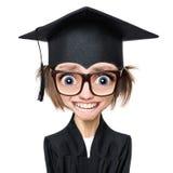 Studentessa laureata del fumetto Immagine Stock