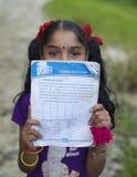 Studentessa nepalese Fotografia Stock Libera da Diritti