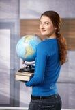 Studentessa sul corridoio della scuola Fotografie Stock