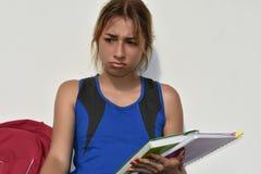 Studentessa teenager infelice Fotografia Stock Libera da Diritti