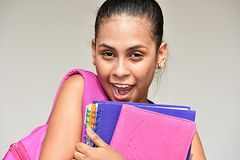 Studentessa teenager sveglia Laughing immagini stock libere da diritti