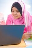 Studentesse di college musulmane Fotografia Stock Libera da Diritti