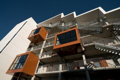 Studenthus i Odense, Danmark Arkivfoto