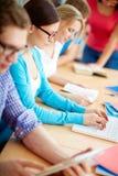 Studenti alla lezione Fotografia Stock