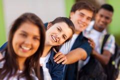 Studenti allegri della scuola Immagini Stock Libere da Diritti