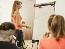 Studenti in aula che imparano l'inglese Immagini Stock Libere da Diritti