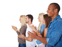 Studenti che applaudono le mani Fotografia Stock