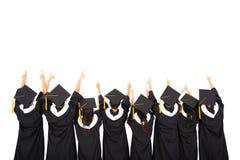 Studenti che celebrano graduazione Immagini Stock Libere da Diritti
