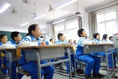 Studenti che hanno classe A Fotografia Stock Libera da Diritti