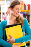 Studenti che imparano nella biblioteca Immagine Stock