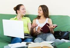 Studenti che lavorano al computer portatile Immagine Stock