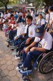 Studenti con le inabilità Fotografia Stock Libera da Diritti
