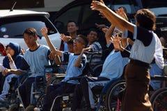 Studenti con le inabilità Fotografie Stock Libere da Diritti