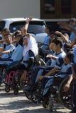 Studenti con le inabilità Fotografie Stock