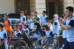 Studenti con le inabilità Immagine Stock Libera da Diritti
