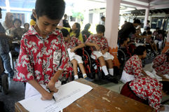 Studenti con le inabilità Fotografia Stock