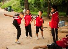 Studenti del monastero di Shaolin Fotografie Stock Libere da Diritti