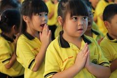Studenti di asilo di attività Fotografie Stock