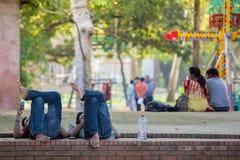 Studenti di belle arti FFA dell'università di Dacca Fotografia Stock